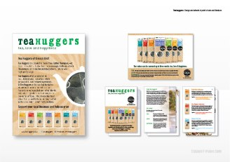 Teahuggers: Design and artwork of point of sale and literature
