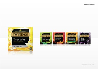 Twinings: Core teabag cartons
