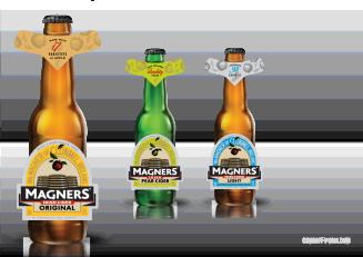 Magners Re-design: Bottle labels